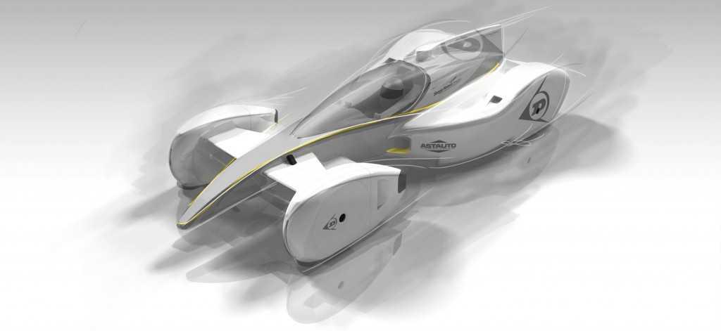 Dunlop presenta el coche de carreras del futuro