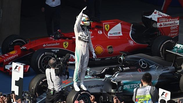 Hamilton después de ganar el GP de China