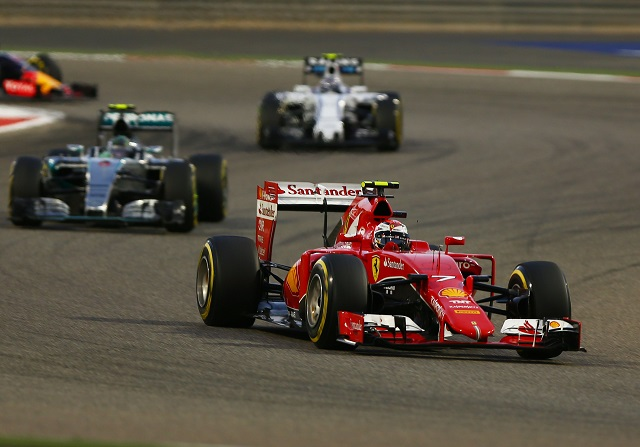 Raikkonen en el GP de Bahrein