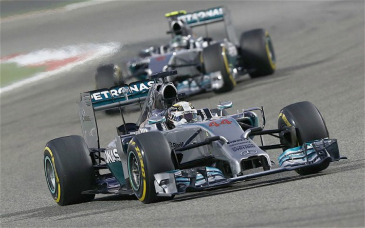 Hamilton en el GP de China 2014