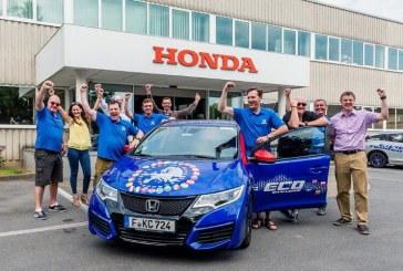 Honda consigue un Record Guinness en eficiencia de consumo