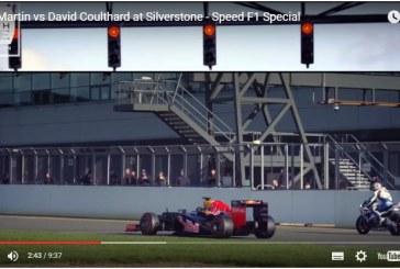 Coche vs Moto, el F1 de David Coulthard bate en duelo a la Superbike de Guy Martin